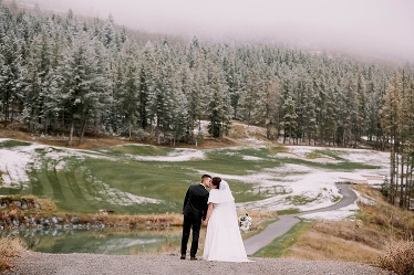 Winter wedding at Silvertip Resort Canmore