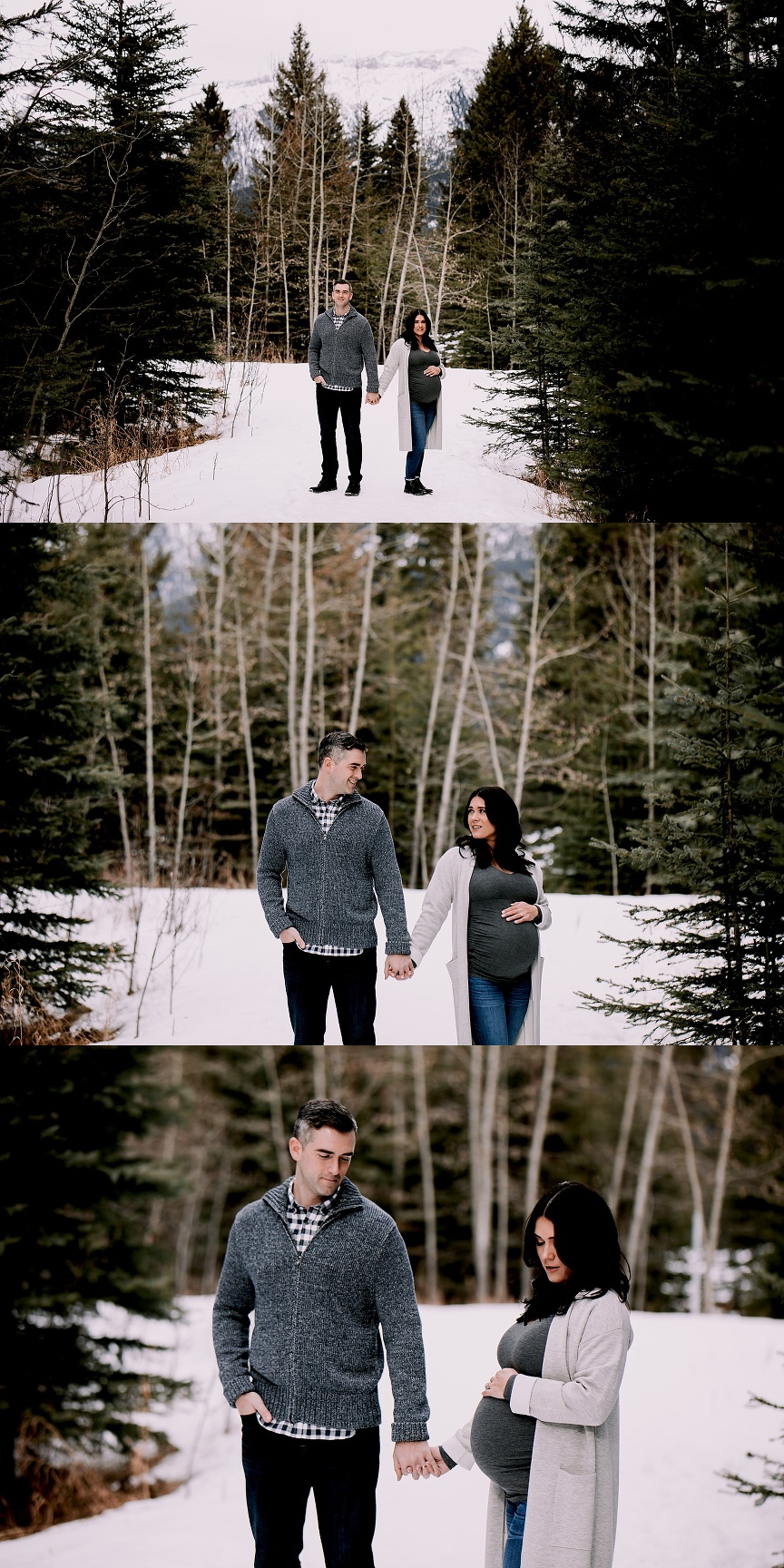 calgary maternity Photographers, winter maternity session, canadian rockies photographers