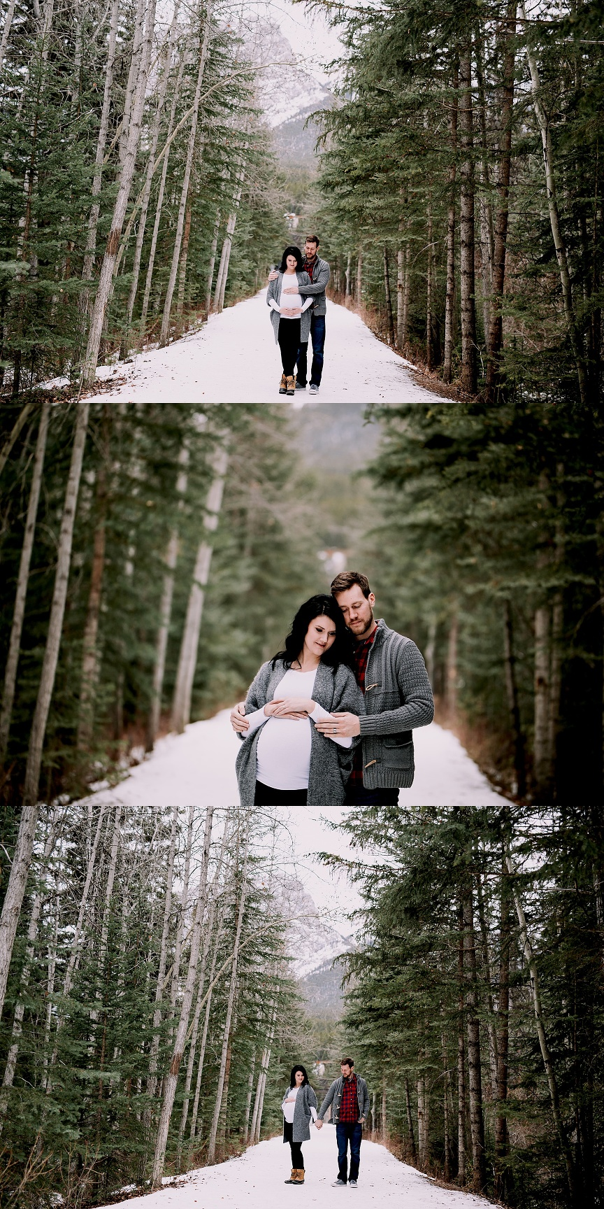 calgary maternity photographer, winter maternity session, canadian rockies photographer