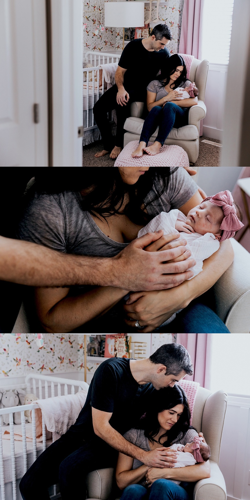 lifestyle newborn photographer, in home newborn session, calgary newborn photographers