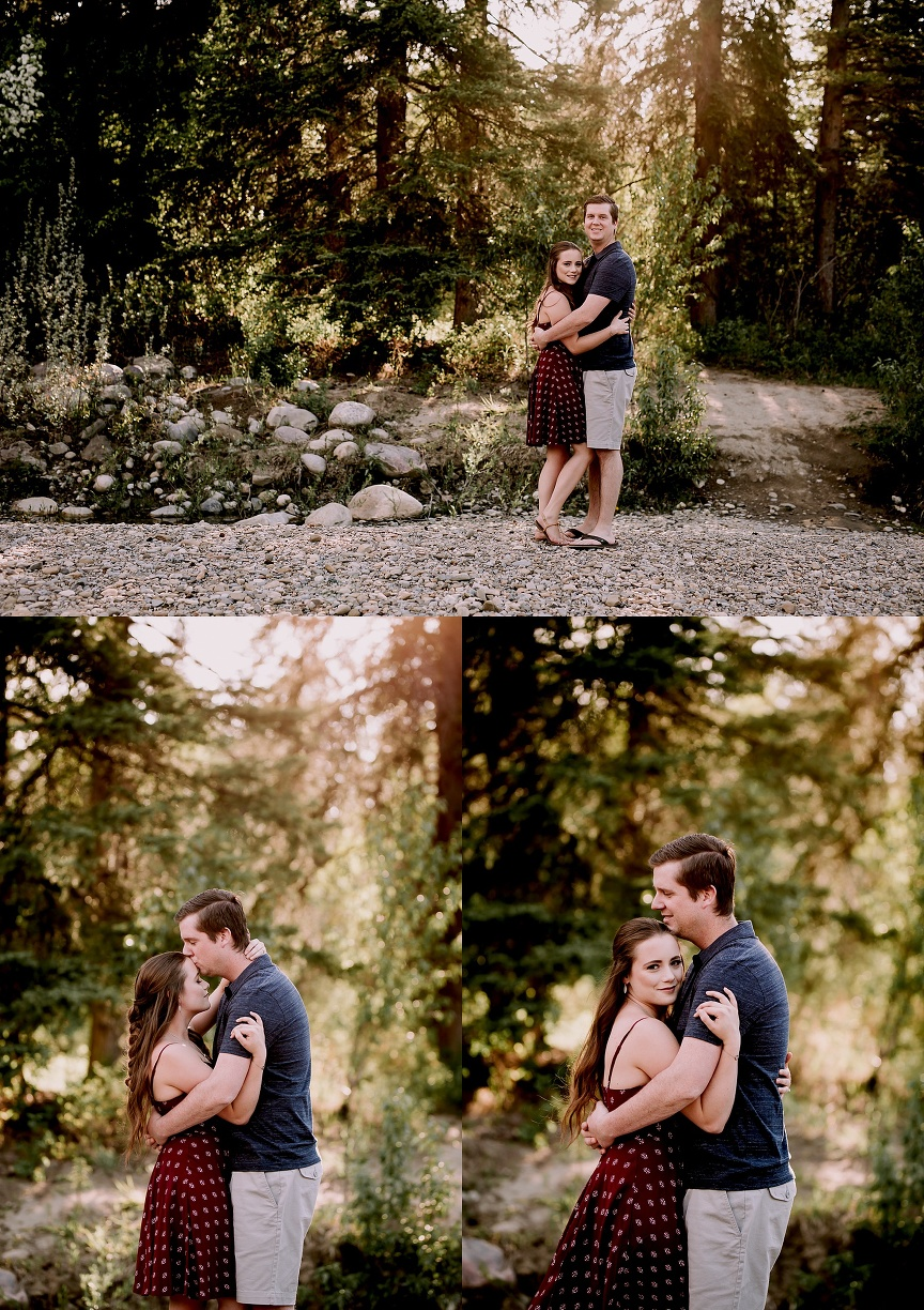 calgary wedding photographer, fish creek park engagement session, makeup by erin kilburn