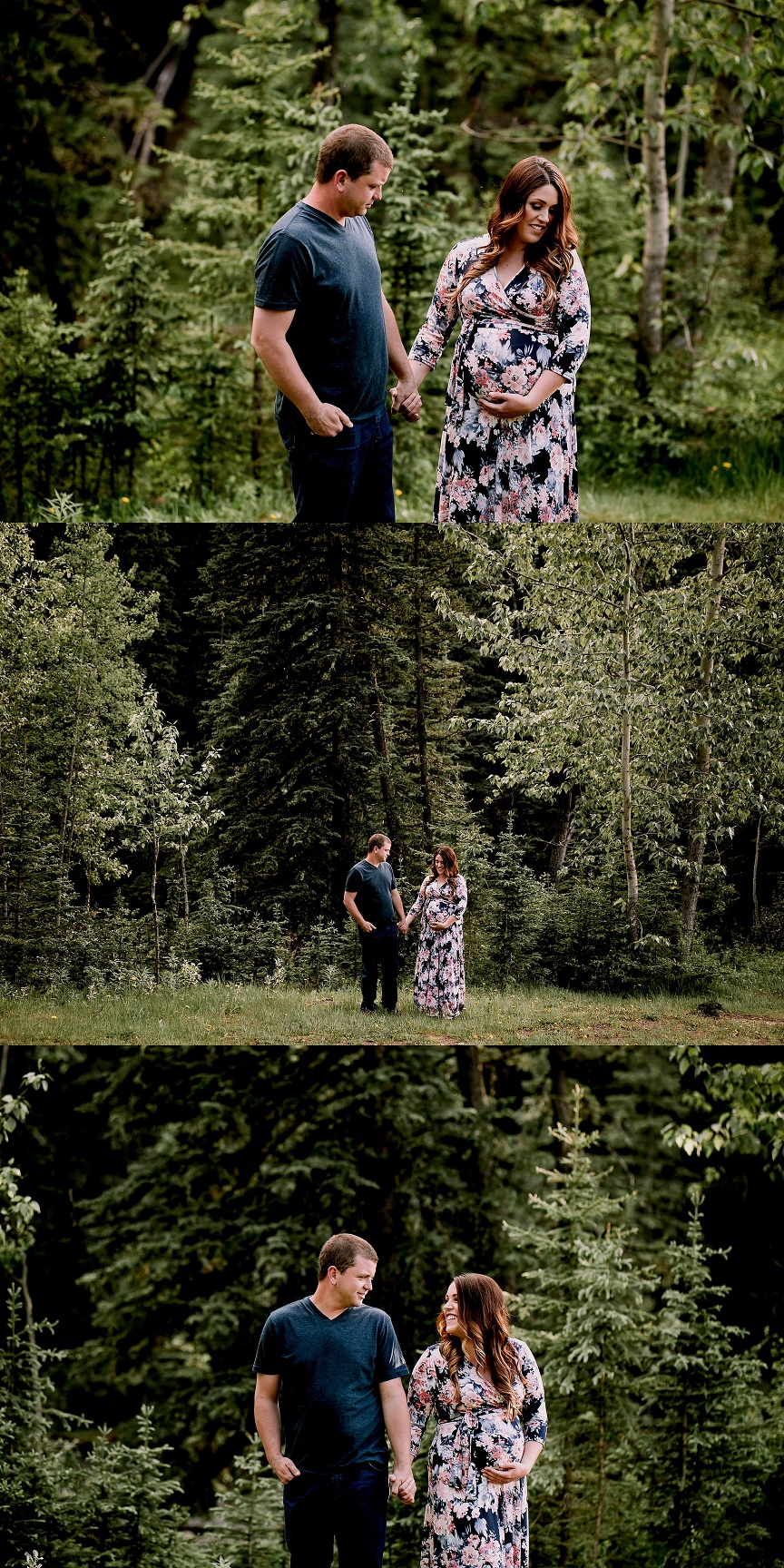 calgary maternity photographers, bragg creek maternity session, makeup by erin kilburn