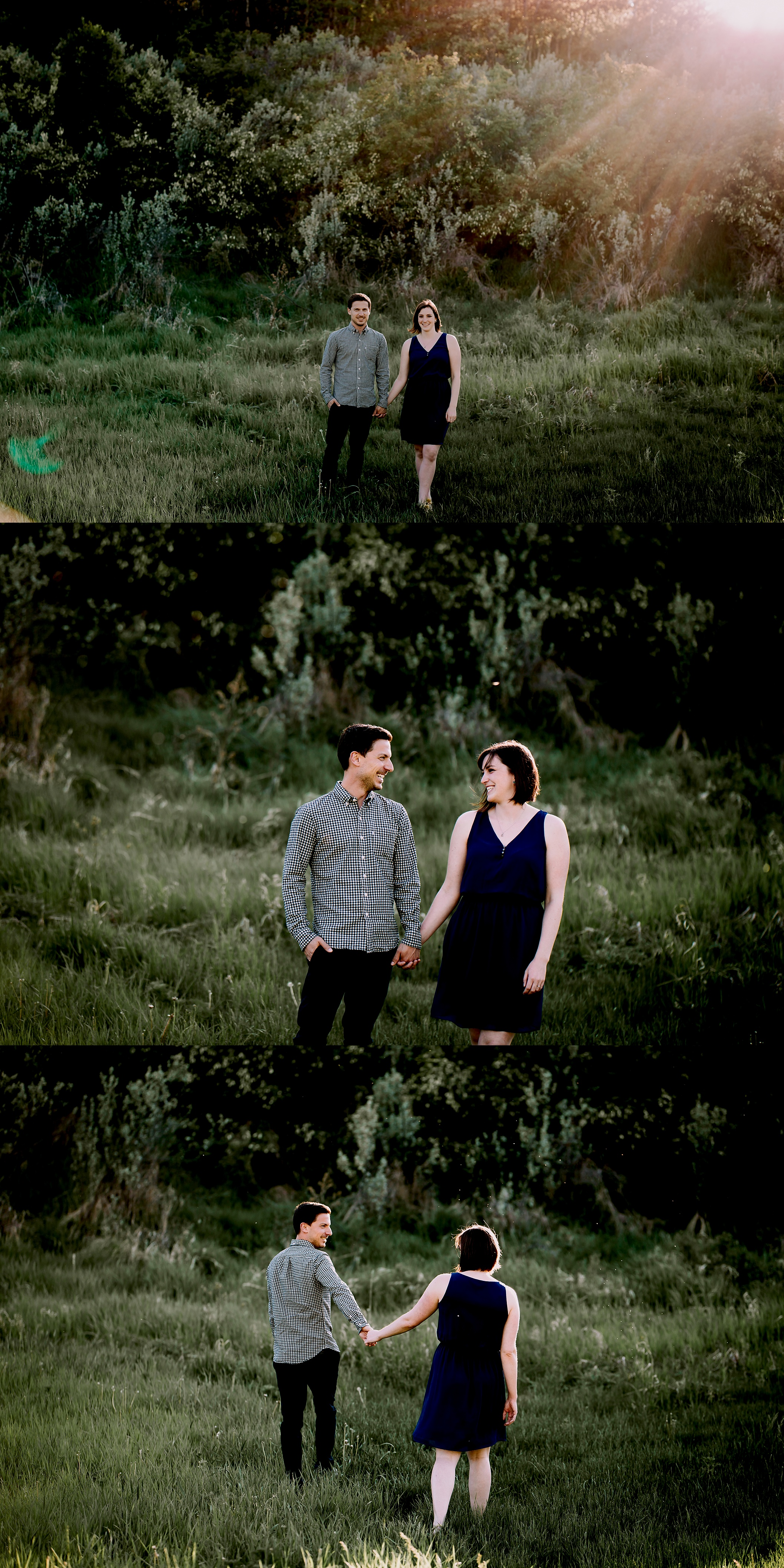 summer engagement session by calgary engagement photographers